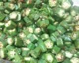 Fried masala bhindi recipe step 2 photo