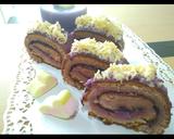 Bolu Gulung Blueberry Keju pr_digulungjangandigiling langkah memasak 10 foto