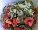 Salad Tomat dengan yogurt Mayonaise Dressing langkah memasak 3 foto