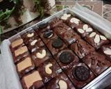 Brownies Sekat langkah memasak 8 foto