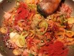 Foto del paso 17 de la receta Cazuela de jureles al horno con alcachofas y berenjenas
