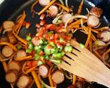 Sausage Carrots Mixed Pepper stir fry recipe step 4 photo