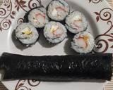 Kani Tamago Maki (Sushi) langkah memasak 5 foto