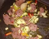 80. Spaghetti Aglio Olio Smoked beef pedas langkah memasak 2 foto