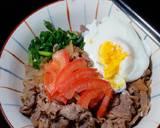Gyudon - Japanese Beef Rice Bowl Ketofy langkah memasak 12 foto
