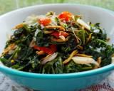 Tumis Daun Pepaya Jepang & Teri Medan langkah memasak 3 foto