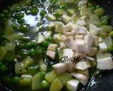 Sweet potato bottlegourd peas and capsicum sabji recipe step 3 photo