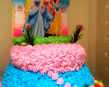 B-Day Cake Barbie langkah memasak 7 foto