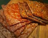 Trio Dendeng Babi (Bak Kwa) langkah memasak 4 foto