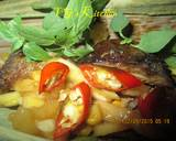 Dried Fish and Young Mango Wrapped in Banana Leaves (PEPES IKAN KERING) recipe step 2 photo