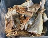 Ikan asin cabai hijau langkah memasak 1 foto