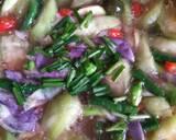 Sup Oyong Kembang Turi Pedas langkah memasak 4 foto
