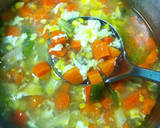 Soup segar orak arik telur ayam sayur langkah memasak 2 foto