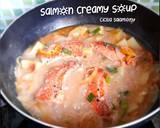 Salmon Creamy Soup langkah memasak 8 foto