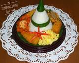 Tumpeng mini nasi uduk simple magicom langkah memasak 5 foto