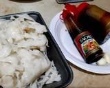 Kwetiau Goreng (dengan sosis dan bakso) langkah memasak 1 foto
