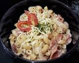 Macaroni Carbonara langkah memasak 9 foto
