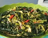 Sayur tumis bunga pepaya daun singkong teri (no pahit) langkah memasak 10 foto