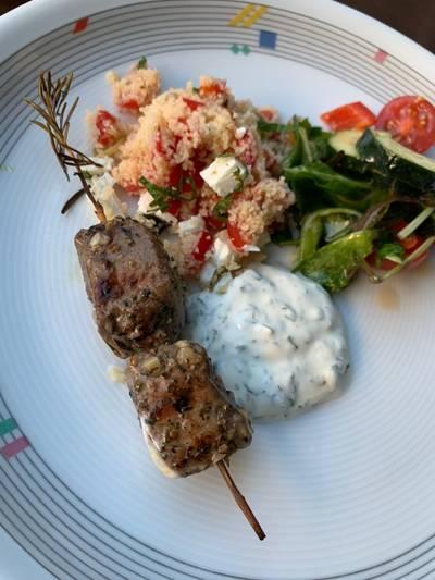 BBQ Rosemary lamb skewer