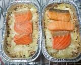 Nasi panggang keju topping salmon langkah memasak 7 foto