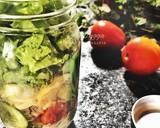 Simple salad in jar langkah memasak 4 foto