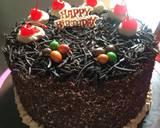 Black Forest Cake Ultah langkah memasak 7 foto