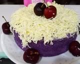 Bolu Talas Ungu /Cake Taro toping keju langkah memasak 3 foto