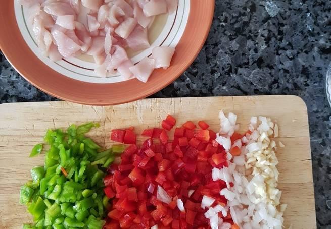 1 Arroz Especiado Con Pollo Y Verduras