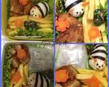 Bee bento (bento tawon) langkah memasak 2 foto