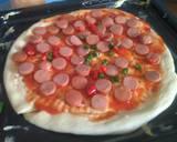 Pizza Sosis Lentur langkah memasak 6 foto