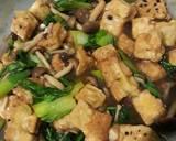 Tahu dengan saus jamur langkah memasak 12 foto