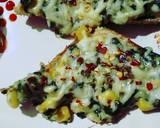 Creamy Spinach Corn Bread Pizza recipe step 6 photo