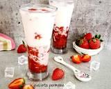 Korean fresh strawberry milk langkah memasak 4 foto