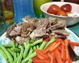 Asem asem daging langkah memasak 1 foto