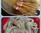 Spagetti Gurita Saos Bakso Asam Manis langkah memasak 2 foto