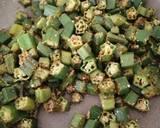 Dry okra curry(bhindi) recipe step 5 photo