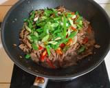 Brokoli Sapi Lada Hitam langkah memasak 5 foto