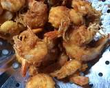 Salted egg sauce shrimp langkah memasak 2 foto