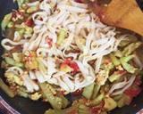 Mie Nyemek Labu Siam / Mie Gomak langkah memasak 4 foto
