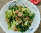 #7. Cah Sawi Pedas langkah memasak 3 foto