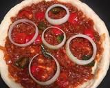 Black Pepper Beef Teflon Pizza (No Mixer, No Oven) langkah memasak 7 foto