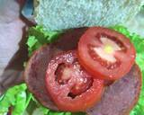 Burger langkah memasak 3 foto