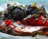 Pepes Ikan Asin & Daun Singkong Balado langkah memasak 5 foto
