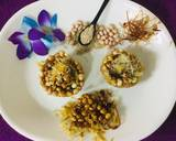 Caramalized peanuts in peanuts-sesame Katoris garnished with spun sugar recipe step 13 photo
