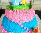 B-Day Cake Barbie langkah memasak 6 foto
