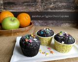 Eggless Choco Cupcake (No Mixer) langkah memasak 7 foto