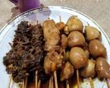 Sate Kerang, Ayam, Telur Puyuh Pendamping Soto langkah memasak 4 foto