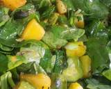 Pui shaaker chochhori (Malabar Spinach with mixed vegetables) recipe step 1 photo