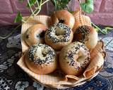 Bagel dengan Ragi Alami /Sourdough Bagels langkah memasak 5 foto