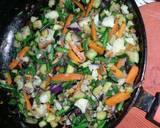 Stir fried vegetables recipe step 3 photo